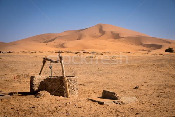 Vieux bien Maroc sahara désert eau Photo stock © johnnychaos