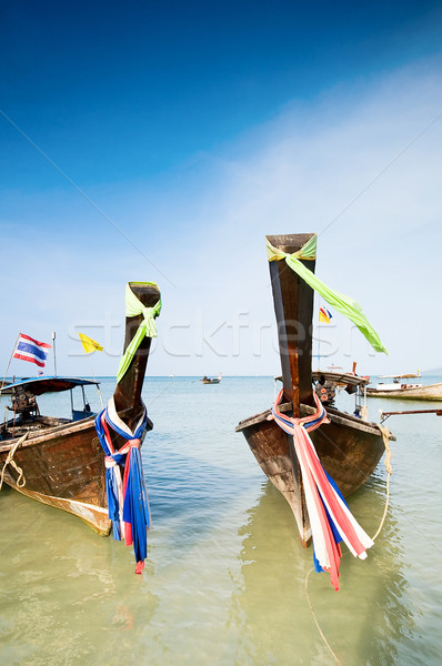 Longtail boats in Thailand Stock photo © johnnychaos