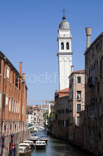 Canal tour Venise Italie ciel bleu ciel Photo stock © johnnychaos
