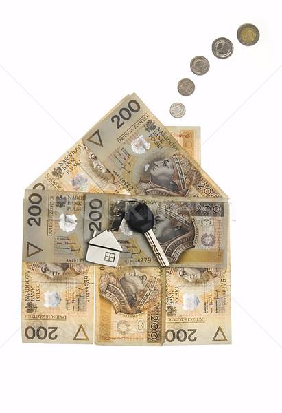Ev para gayrimenkul iş Bina model Stok fotoğraf © johnnychaos