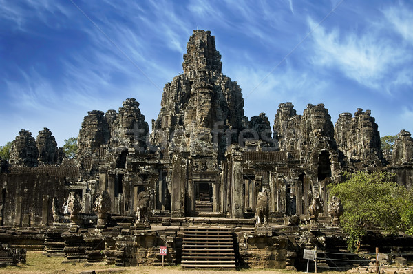 Ancient temple in Angkor Wat, Cambodia Stock photo © johnnychaos
