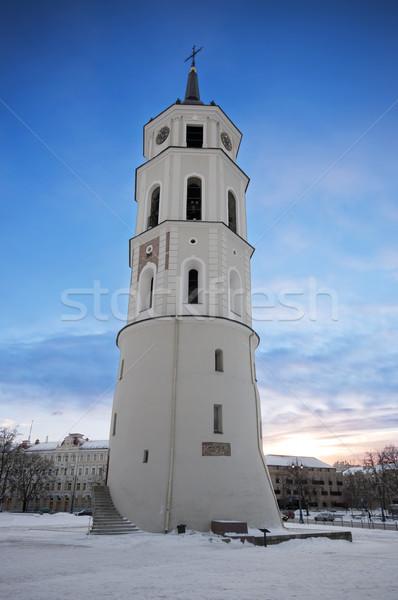 Harang torony Vilnius Litvánia katedrális tér Stock fotó © johnnychaos