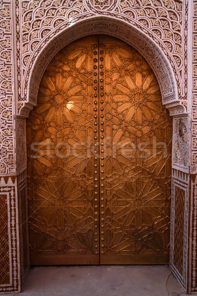 Ali Ben Youssef Madrasa, Marrakesh, Morocco Stock photo © johnnychaos