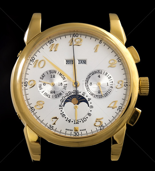 Luxury gold watch Stock photo © johnnychaos