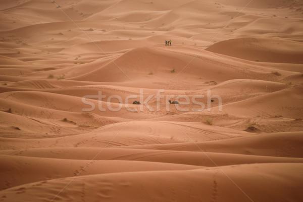 Maroc sahara désert sable ciel soleil Photo stock © johnnychaos