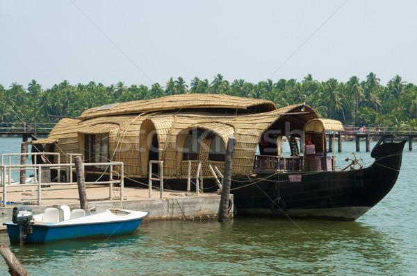 hermosas fotos de la casa en kerala India Agua Casa Rbol Madera Puesta De Sol