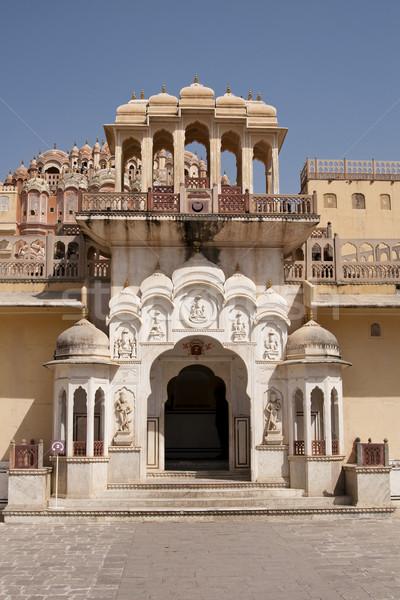 Saray Hindistan Bina şehir duvar sanat Stok fotoğraf © johnnychaos