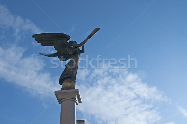 Angel statue at Uzupio, Vilnius, Lithuania Stock photo © johnnychaos