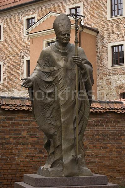 Szobor pápa templom Biblia istentisztelet apa Stock fotó © johnnychaos