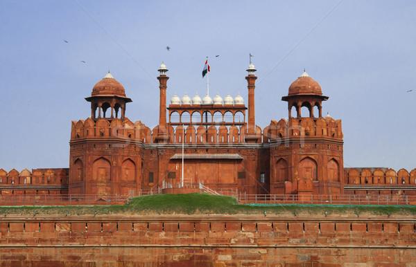 Rouge fort vieux Delhi Inde célèbre Photo stock © johnnychaos