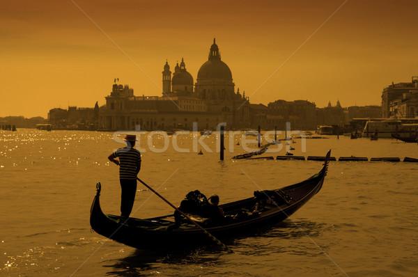 Venedik İtalya akşam karanlığı su manzara deniz Stok fotoğraf © johnnychaos