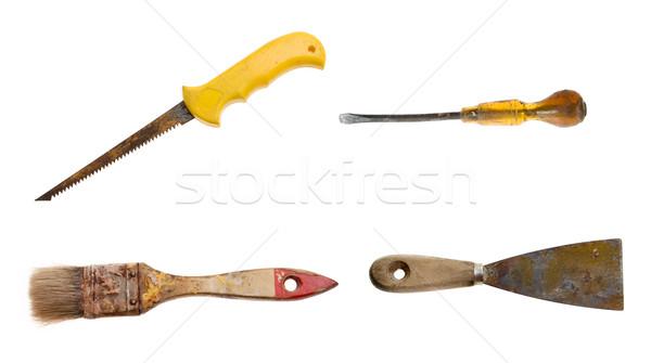 Velho enferrujado ferramentas conjunto tempo novo Foto stock © johnnychaos