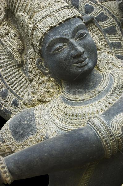 Krisna Shiva szobor kő tárgy Isten Stock fotó © johnnychaos