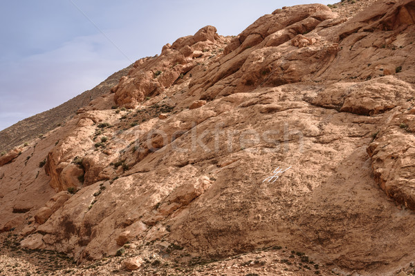 Stock photo: Berber Sign on the rock in Atlas Mountains, Morocco