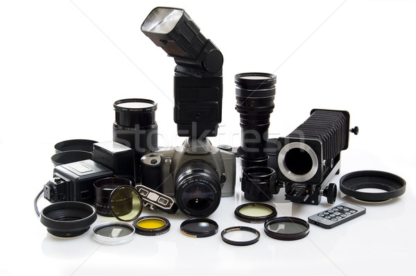 Uitrusting geïsoleerd witte licht frame zwarte Stockfoto © johnnychaos