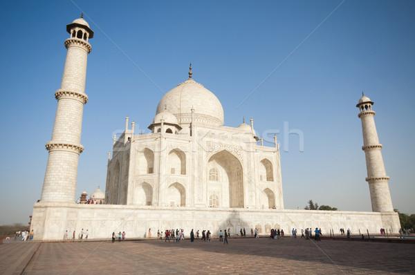 Taj Mahal mausoleo amore sole viaggio fiume Foto d'archivio © johnnychaos