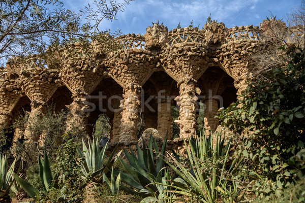 Park Guell in Barcelona, Spain. Stock photo © johnnychaos