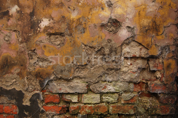 Oude muur vuile huis gebouw Stockfoto © johnnychaos