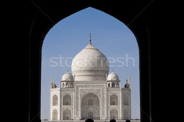 Taj Mahal mausolée amour soleil rivière or Photo stock © johnnychaos