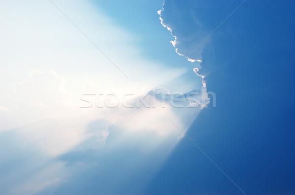 Foto stock: Blue · sky · branco · nuvens · belo · céu · textura