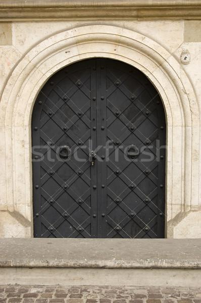 Old steel door Stock photo © johnnychaos