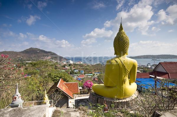 óriás Buddha szobor Thaiföld sziget panoráma Stock fotó © johnnychaos