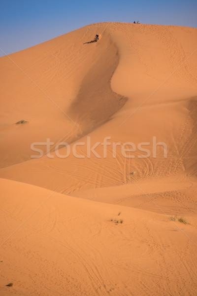 Marocco sahara deserto moto top duna Foto d'archivio © johnnychaos