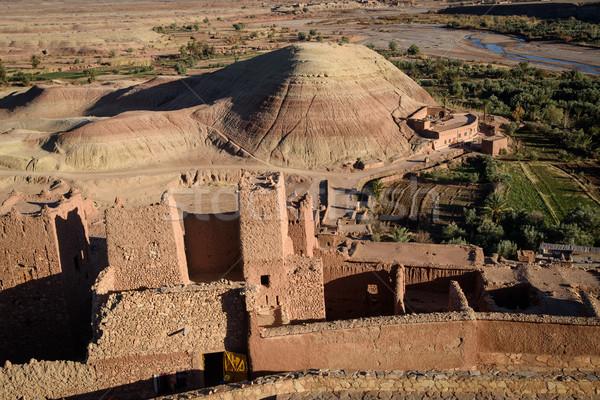 Kasbah Ait Benhaddou in the Atlas Mountains of Morocco Stock photo © johnnychaos