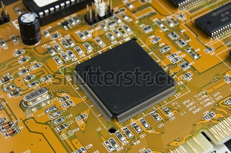 Bilgisayar devre kartı doku soyut dizayn Stok fotoğraf © johnnychaos