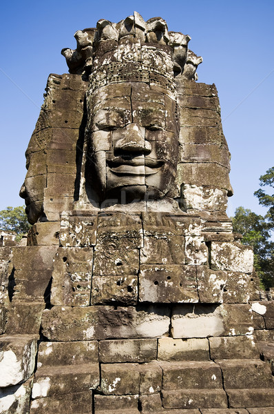 Ancient statue in Angkor Wat, Cambodia Stock photo © johnnychaos