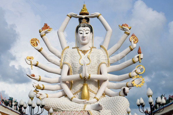 восемнадцати оружия Будду Blue Sky небе человека Сток-фото © johnnychaos