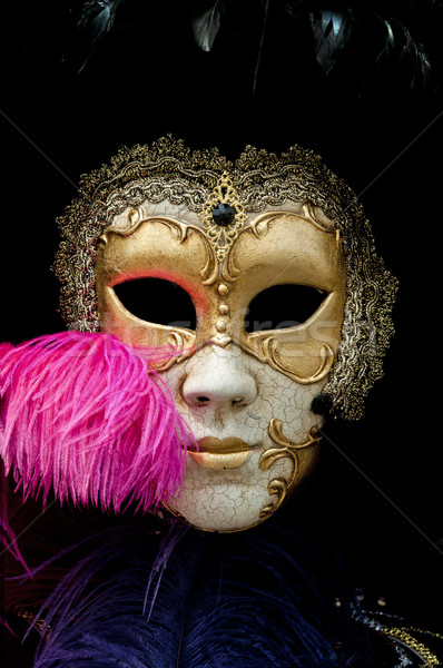 Karneval Maske Gold traditionellen Venedig Stock foto © johnnychaos