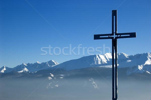 Atravessar topo montanha cenário montanhas natureza Foto stock © johnnychaos