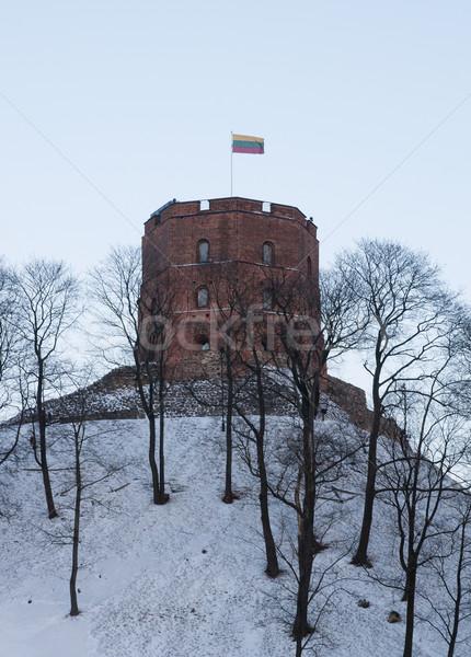 Torony Vilnius Litvánia lövés épület város Stock fotó © johnnychaos
