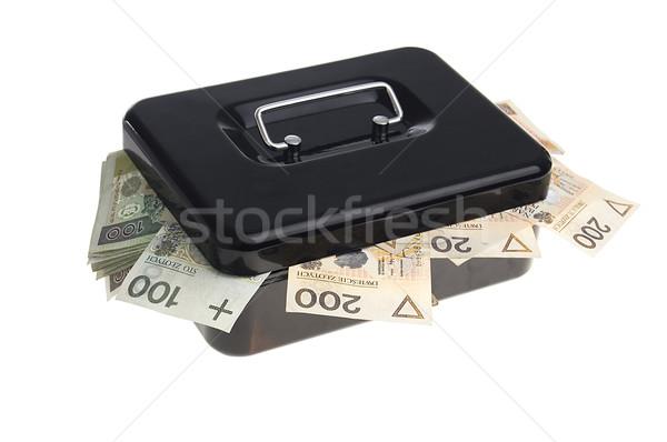 Pénz pénz doboz fekete izolált fehér Stock fotó © johnnychaos