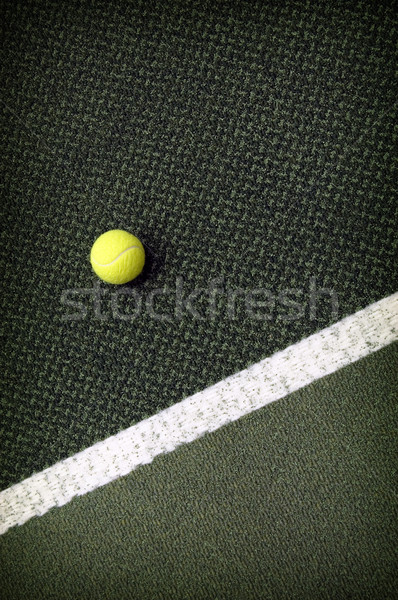 Balle de tennis tennis jaune balle lignes tribunal Photo stock © johnnychaos