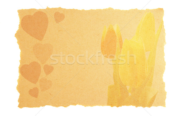 vintage love and Valentine card Stock photo © johnnychaos