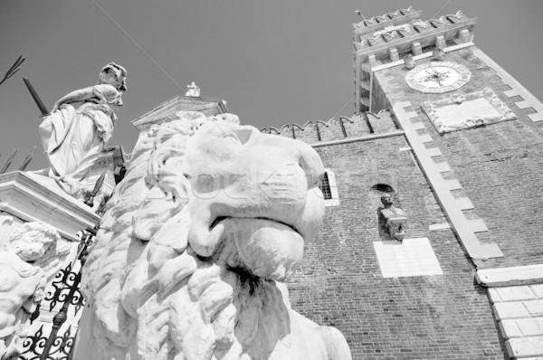 Statue, Venice, Italy Stock photo © johnnychaos