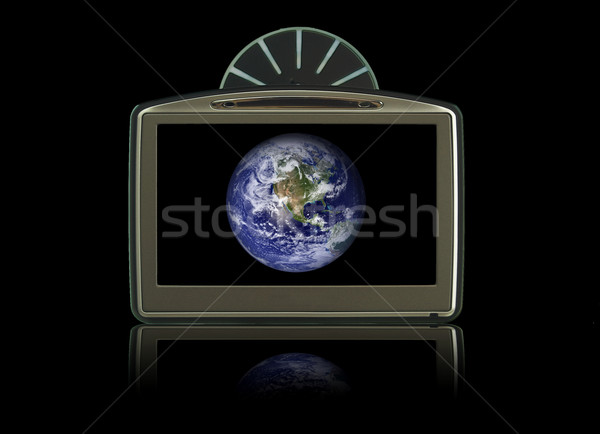 GPS isolated on black with earth Stock photo © johnnychaos