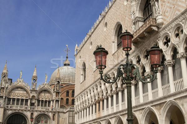 Palácio basílica Veneza Itália blue sky edifício Foto stock © johnnychaos