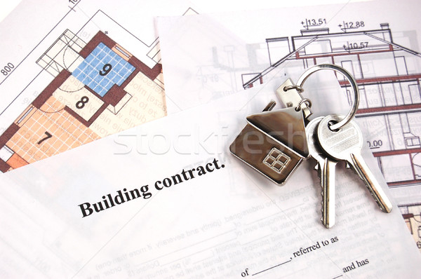 Keys on building contract  Stock photo © johnnychaos
