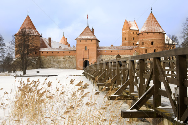 Castle in Trakai, Lithuania Stock photo © johnnychaos