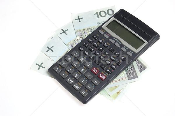Kalkulator ceny odizolowany biały działalności biuro Zdjęcia stock © johnnychaos