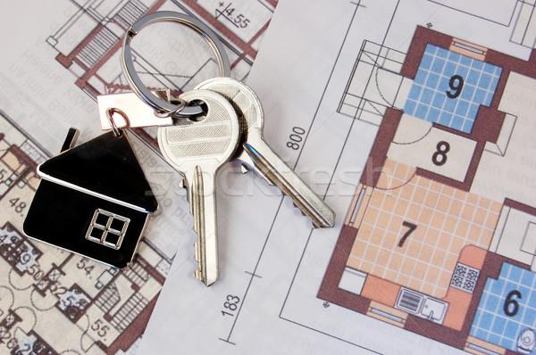 keys on blueprint Stock photo © johnnychaos