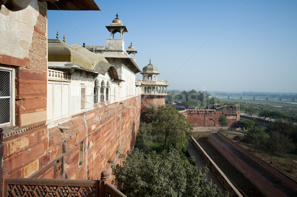 Agra Fort in India Stock photo © johnnychaos