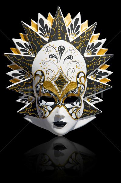 ベニスの カーニバル マスク 孤立した 金 伝統的な ストックフォト © johnnychaos