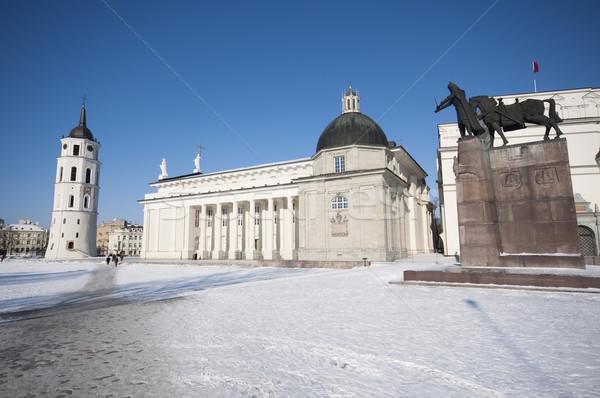 大聖堂 広場 ヴィルニアス リトアニア 鐘 塔 ストックフォト © johnnychaos
