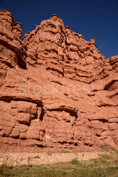 Scenic landscape in Dades Gorges, Atlas Mountains, Morocco Stock photo © johnnychaos