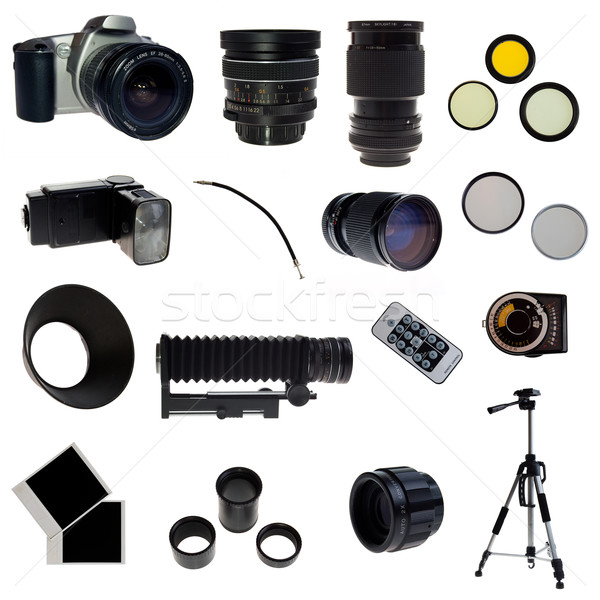 XXL. Photographic equipment set. 16 elements Stock photo © johnnychaos
