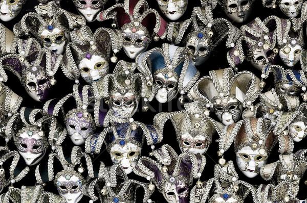 Venetiaanse carnaval maskers groot bedrag traditioneel Stockfoto © johnnychaos